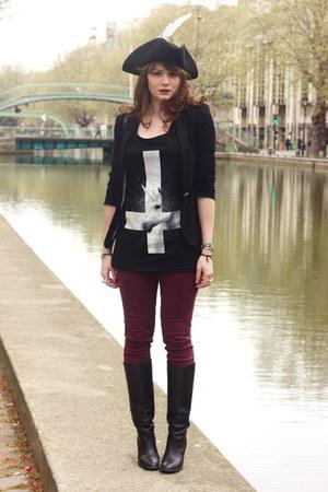 ivory unicorn vest killstar vest - black Exclusif boots