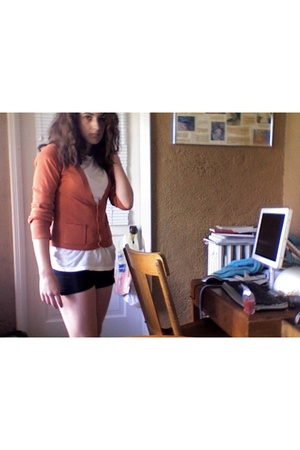 forever 21 sweater - Hanes t-shirt - Soffe shorts