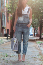 denim overall Zara jumper