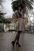 brown Stradivarius hat - camel YOKANA scarf - beige sita murt skirt - brown Frid