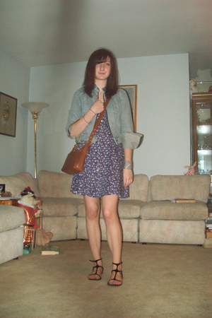 Gap jacket - vintage dress - Classified shoes - coach purse - random bracelet