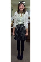 Urban Behaviour sweater - salvation army blouse - vintage skirt - Target shoes
