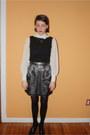 Vintage-blouse-vintage-top-vintage-skirt-payless-heels