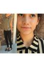 Thrifted-blouse-jeggings-pants-steve-madden-flats