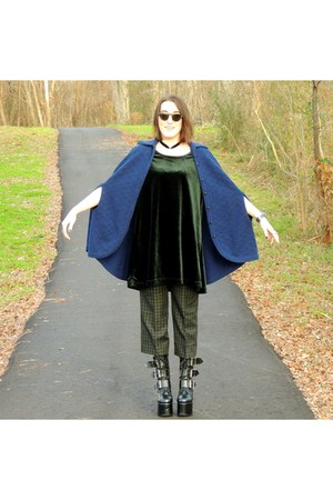 thrifted cape - Demonia heels