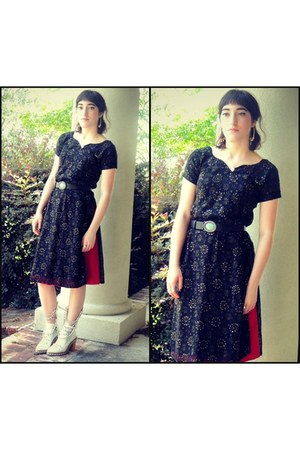 Jessica Buurman boots - thrifted dress