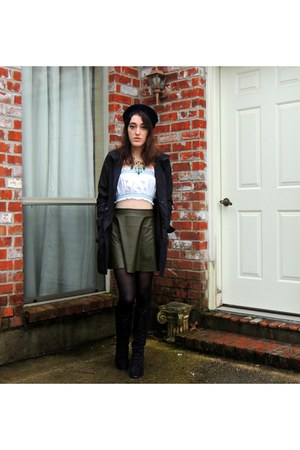 Frock Candy skirt - lace up boots Forever 21 boots