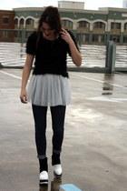 tulle skirt Tobi skirt - sammydress boots - J Brand jeans