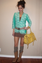 sweater - top - belt - socks - boots - purse