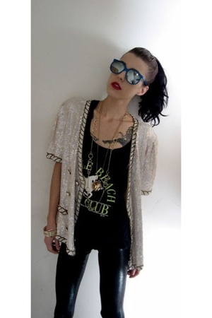 sequin blazer.
