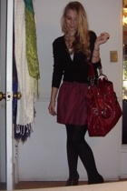 Lux skirt - big buddha purse - banana republic sweater - tiffanys bracelet