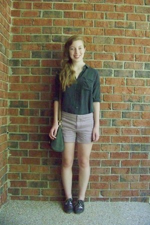 gray Kimchi Blue bag - puce Gap shorts - gray ecote blouse