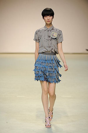 blue Richard Nicoll skirt - pink Richard Nicoll shoes - gray Richard Nicoll blou