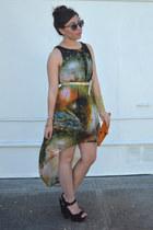 galaxy Sheinside dress - montaffair belt - AmiClubWear heels