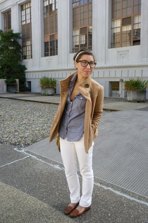 JCrew pants - JCrew shirt - Forever 21 jacket - Anthropologie accessories