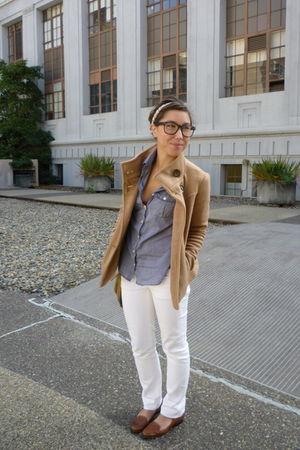 JCrew pants - JCrew shirt - Forever 21 jacket - Anthropologie accessories