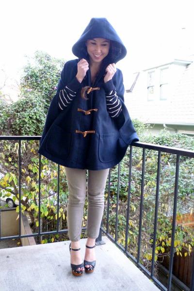 cape Zara coat - Steve Madden shoes - thrifted pants