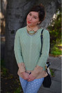 Polka-dot-diy-jeans-forever-21-sweater-thrifted-shirt-ann-taylor-necklace