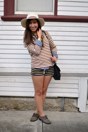 Urban Outfitters hat - Forever 21 shirt - Forever 21 shorts
