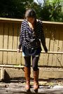 H-m-sweater-forever-21-shorts-h-m-tights-steve-maddenn-boots