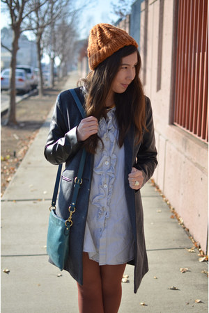 leather-sleeved f21 coat