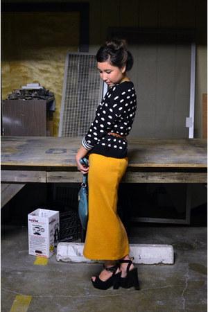 thriftedted skirt - Forever 21 sweater