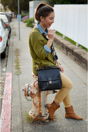 JCrew sweater - coach bag