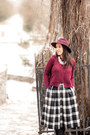 Mango-boots-accessorize-hat-burgundy-sheinsidecom-sweater-midi-bsb-skirt