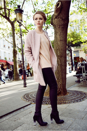 collarless asos coat