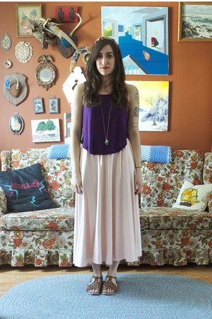 thrifted skirt - Urban Outfitters top - Target sandals