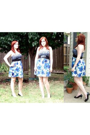 blue Target dress - black Target shoes - black Forever 21 belt
