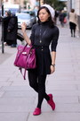 Dark-gray-zara-top-black-primark-skirt-magenta-mulberry-bag-hot-pink-topsh