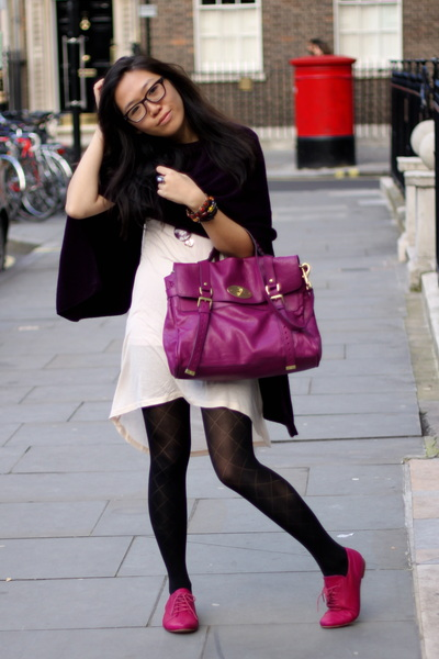 92e64eb19520 pink Sparkle   Fade dress - pink Topshop shoes - pink Mulberry bag - purple  Zara