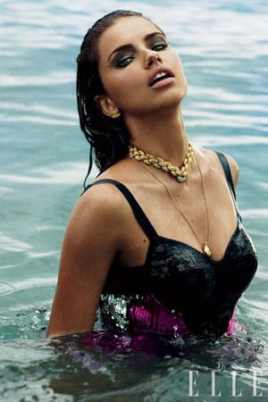necklace - Chanel earrings - victoria secret bodysuit