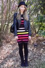 Forever-21-boots-sonia-rykiel-for-h-m-dress-h-m-coat-h-m-hat-primark-bag