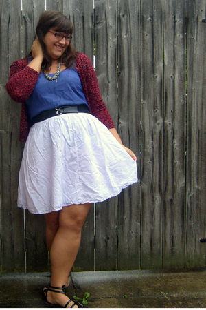 purple striped Converse skirt - black Target shoes - purple Target top