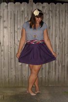 beige Steve Madden shoes - purple Gap skirt - red Old Navy scarf - blue Jones of