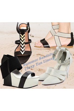 black Dolce Vita sandals - white platform geisha united nude sandals