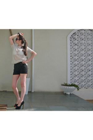 mesh Animale t-shirt - suede Topshop heels