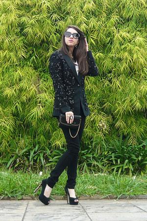black Animale blazer - black asos pants