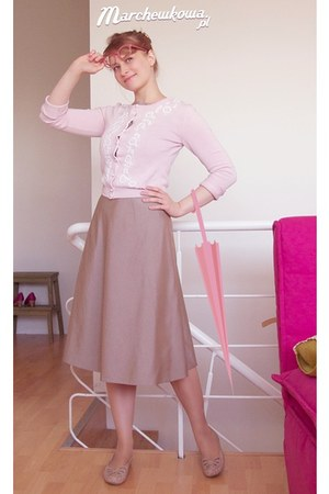 beige made by me dress - peach leather TK Maxx flats - light pink cotton KappAhl