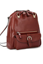Leather Front Zip Backpacks 11""