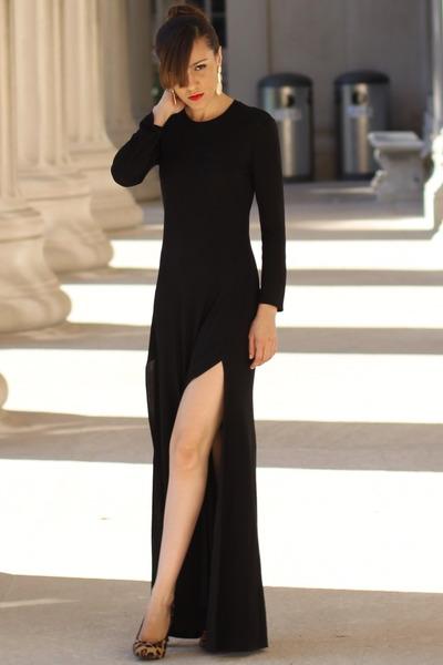 Zara dress - leopard print Steve Madden heels
