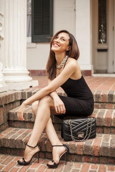 a0d6ca182c3b black vest BCBG Maxazria dress - black Zara heels