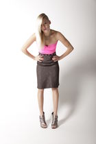 silver Steven by Steve Madden shoes - black Cavortress skirt - pink Cavortress t