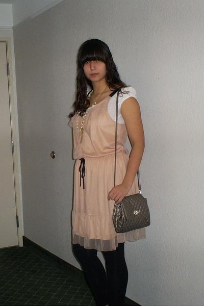 suede merona shoes - ruffled merona dress - Forever 21 leggings