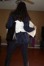 Kmart-bag-hot-topic-boots-ross-vest-blouse-forever-21-leggings-rue-21-