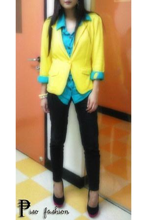 black Primadonna heels - yellow yellow Redhead blazer