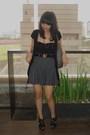 Gray-topshop-skirt-gray-marc-by-marc-jacobs-accessories-black-zara-top-bla