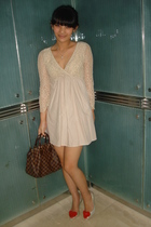 beige Sinequanone dress - beige Vivienne Westwood Melissa shoes